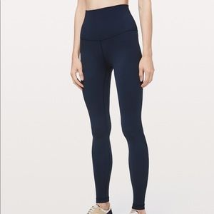 Lululemon Super High Rise Navy Leggings